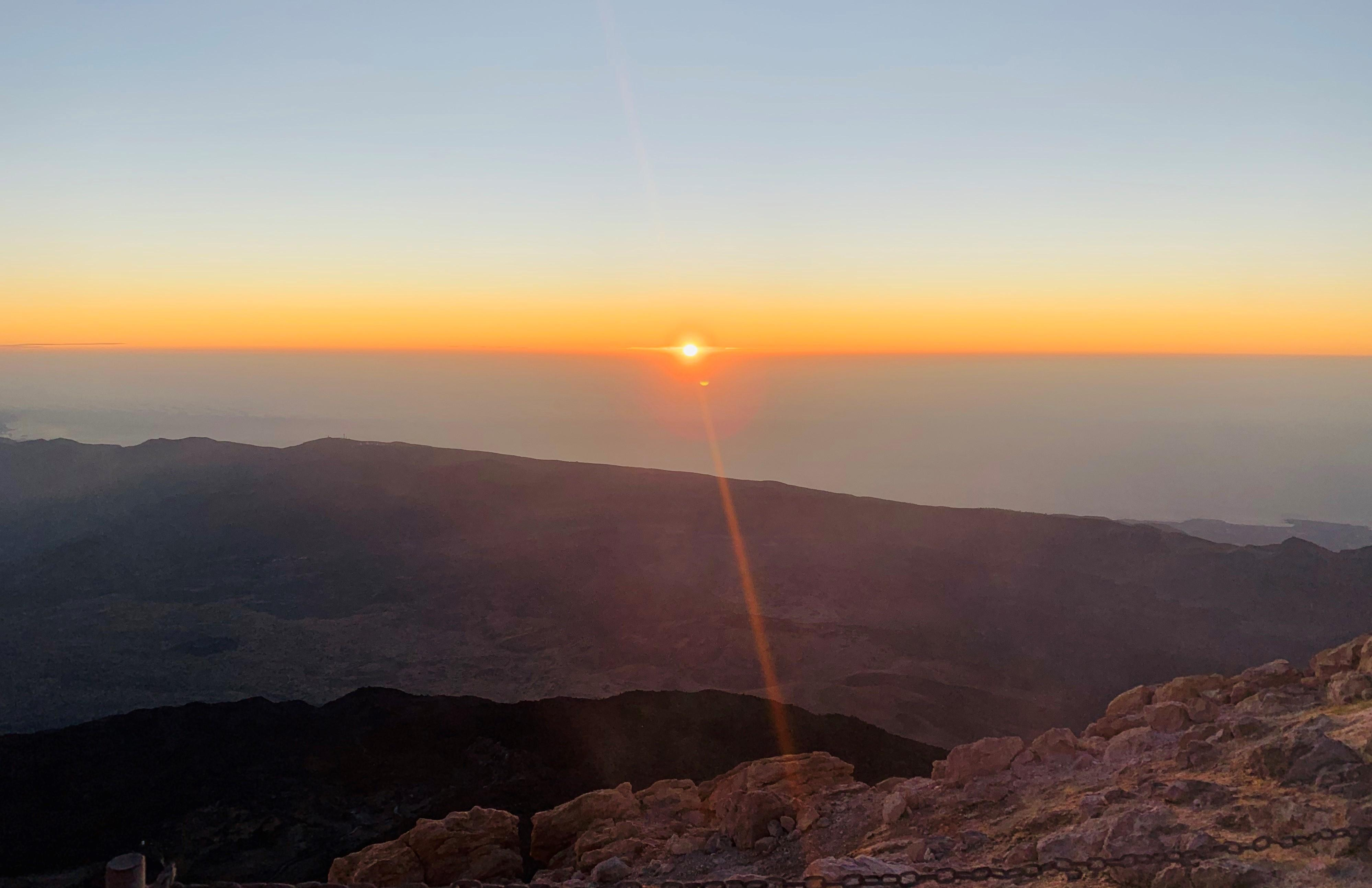 Climbing to the Top of Teide